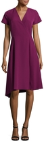 Anne Klein Women's V-Neck Asymmetrical Dress