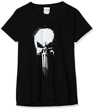 Marvel Women's Knights Paintspray Skull T-Shirt,14 (Size:)