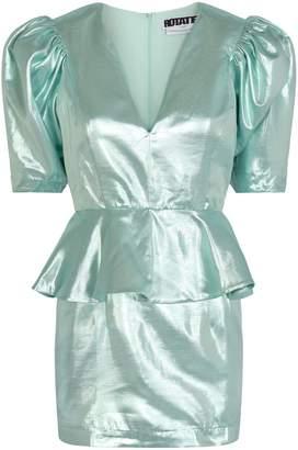 Rotate by Birger Christensen Mindy Puff-Sleeve Peplum Dress
