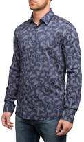 English Laundry Paisley Print Cotton Sport Shirt