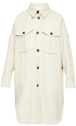 Etoile Isabel Marant Obira Patch-pocket Herringbone Coat - Womens - Ivory