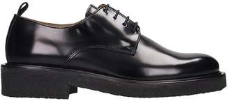 Ami Alexandre Mattiussi Lace Up Shoes In Black Leather