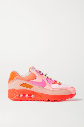 Nike 90 Leather And Rubber Sneakers - Peach