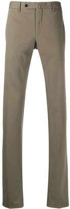 Pt01 Brown Silk And Cotton Trousers