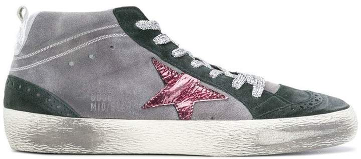 Golden Goose Super Star mid-topped distressed sneakers