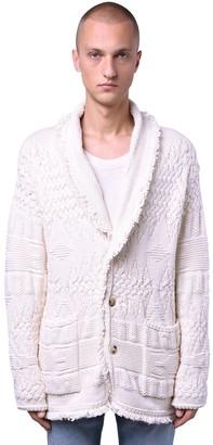 Alanui Stitched Cotton Blend Knit Cardigan