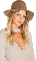 Hat Attack Crushable Luxe Felt Hat in Brown.