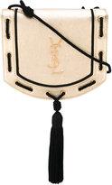 Saint Laurent tassel satchel - women - Cotton/Calf Leather - One Size