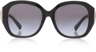 Valentino Garavani Logo-Detailed Square-Frame Acetate Sunglasses