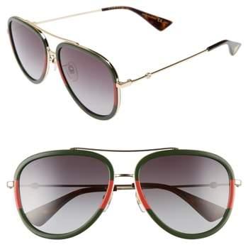 Gucci 57mm Aivator Sunglasses