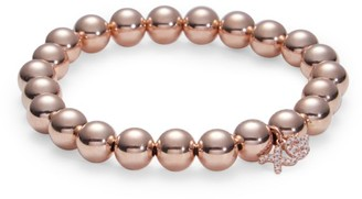 Sydney Evan 14K Rose Gold & Diamond XO Charm Beaded Bracelet