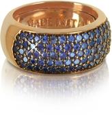 Forzieri Azhar Blue Cubic Zirconia Silver Vermeil Ring