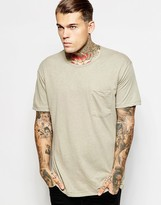 American Apparel Linen Blend Pocket T-shirt - Beige