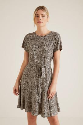 Seed Heritage Mini Ocelot Print Dress