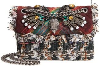 Kurt Geiger London Mini Kensington-X Tweed Shoulder Bag