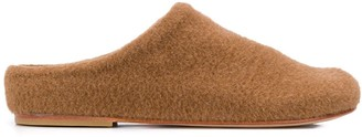 LAUREN MANOOGIAN Mono round-toe slippers