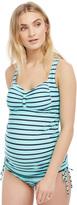 Motherhood Cross Back Maternity Tankini Swimsuit