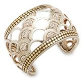 John Hardy Naga Diamond, 18K Bonded Gold & Sterling Silver Cuff Bracelet