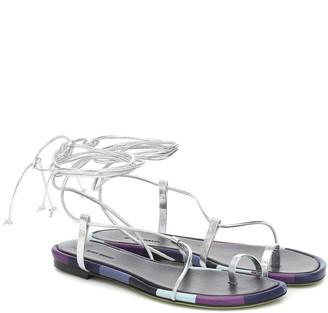 Isabel Marant Jeiro metallic leather sandals