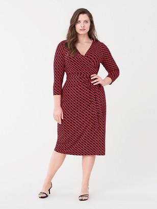 Diane von Furstenberg Julian Jersey Midi Wrap Dress