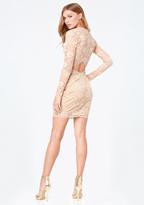 Bebe Celia Lace Open Back Dress