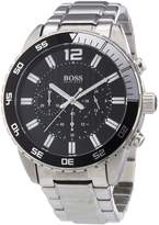 HUGO BOSS Men's 1512806 Silver Stainless-Steel Analog Quartz Watch with Dial