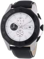 Esprit Men's Quartz Watch with Silver Dial Legacy with Black Leather Strap ES102841002