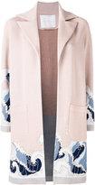 Giada Benincasa - waves cardi-coat - women - Cotton/Spandex/Elastane/Viscose/Metallized Polyester - L