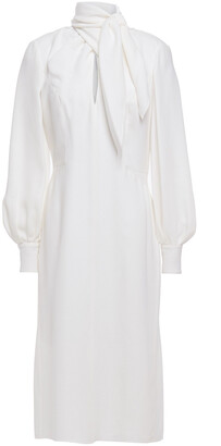 Carolina Herrera Tie-neck Silk-crepe Dress