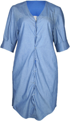 Format ILSE Blue Light Denim Dress - M - Blue