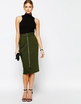 Love Structured Pencil Skirt