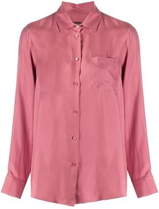 Max Mara Long-Sleeved Silk Shirt