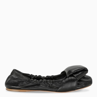Miu Miu Black nappa leather ballerinas