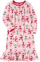 Carter's Santa-Print Nightgown, Little Girls (2-6X) and Big Girls (7-16)