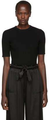 3.1 Phillip Lim Black Wool Rib Pullover