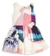 Zoe Girl's Electric Youth Abstract Floral Dress