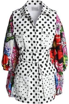 Mary Katrantzou Belted Printed Shell Jacket