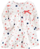 Carter's Baby Girls' Long Sleeve Floral Jersey Dress
