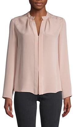 Derek Lam Split Neck Pullover Silk Blouse