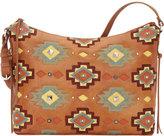 American West Women's Adobe Allure Zip-Top Shoulder Bag
