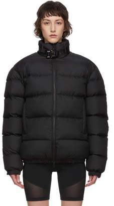 Alyx Black Down Metal Buckle Puffer Coat