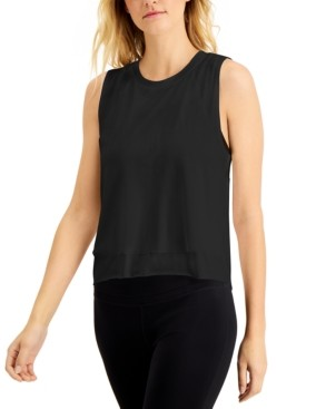 Ideology Mesh-Layered Tank Top, Created for Macy's