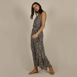 Molly Bracken Sleeveless Printed Maxi Dress with Tie-Waist
