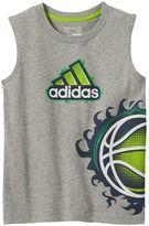 adidas Boys 4-7x Basketball Muscle Tank