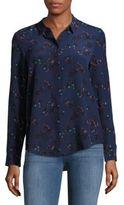Rebecca Taylor Pinwheel Hi-Lo Silk Shirt