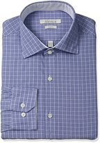 Perry Ellis Men's Slim-Fit Wrinkle-Free Graph-Check Dress Shirt
