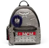 MCM Stark Leather Insignia Backpack