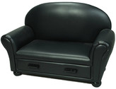 Gift Mark Upholstered Chaise Lounge Kids Faux Leather Club Chair with Storage Compartment