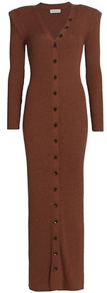 Ronny Kobo Vianne Knit Button-Front Dress