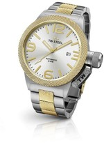 TW Steel Canteen CB35 Yellow Gold Automatic with Sunray Silver Dial 45mm Mens Watch